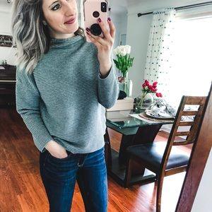 H&M Basic Grey Ribbed Sweater Medium